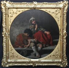 RUDOLF LEHMANN GERMAN PRE RAPHAELITE ART OIL PORTRAIT PAINTING ROMAN BEGGARS