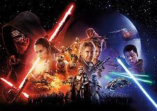 Star Wars Episode VII Film Poster Plakat DIN A1 quer - Wandbild - 59,4 x 84,1 cm