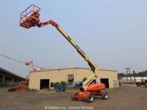 2012 JLG M600JP 60' Electric Boom Lift Man Aerial Platform Swing Jib bidadoo