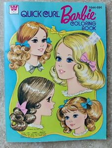 Vintage 1975 Quick Curl Barbie  Whitman #1644 Coloring Book