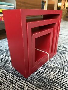 Target Brands, Inc. 3-Pack Floating Wall Shelves Nested Cubes - Red