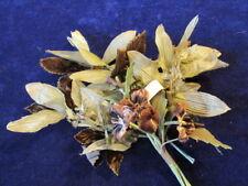 """Vintage Velvet Millinery Flower Collection 1"""" Velvet Pansy Brown Celery    H2242"""