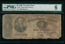 Ac Fr 347 1890 $1 Treasury Note Ornate Back Pmg 6