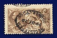 1918 SG415a 2s6d Pale Brown Bradbury Wilkinson N65(5) Liverpool GU Cat £85 cizu
