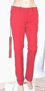 Pantaloni Donna MET C736 Vita Bassa Affusolato Rosso Tg 27