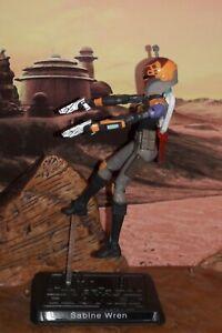 "Star Wars CUSTOM Rebels: Sabine Wren 3.75"" figure More Articulate with jet pack."