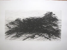 "Max Uche Etching 1983 "" gebirgsvegatation "" Dated, Titled, AUTOGRAPHED"