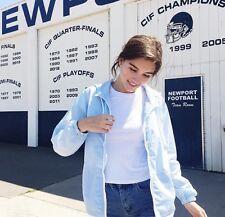 Brandy Melville light blue light weight zip up hoodie krissy windbreaker jacket