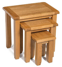 Oak Rectangle Nested Tables with 3 Pieces