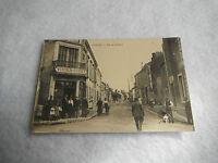 RARE CPA carte postale Conlie / Rue de la Gare Commerce VIVIEN-FINET
