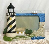 Nautical 3D Picture Frame Lighthouse Sailboat Ship Coastal Shore Gulls