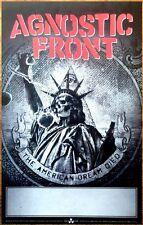 AGNOSTIC FRONT American Dream Died 2015 Ltd Ed RARE Poster +FREE Hardcore Poster