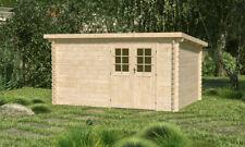 44mm Gartenhaus 400x300 cm Gerätehaus Holzhaus Holz Blockhaus Schuppen Hütte Neu