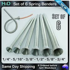 Spring Benders set of 6 - Sizes 1/4, 5/16, 3/8, 1/2, 5/8, 3/4 Inch - Zink Coated