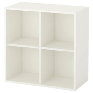 IKEA Eket Cabinet with 4 Compartments White 27 1/2x13 3/4x27 1/2, 603.339.54 NEW