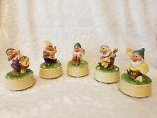 Disney Collectible (Schmid) - Snow White Dwarfs Music Boxes 50 Years Stamp