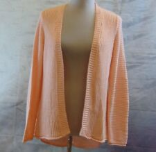 Sonoma Women's peach Loose Knit Hi/Low Open Front Casual/Career Cardigan Size M