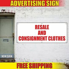 Resale Consignment Clothes Banner Advertising Vinyl Sign Flag Service Delivery