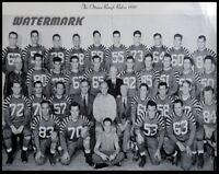 CFL 1960 Ottawa Rough Riders Team Picture Black & White 8 X 10 Photo Picture