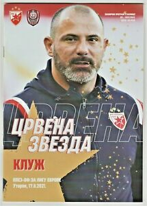 2021, RED STAR Serbia v CLUJ Romania! OFFICIAL programme!