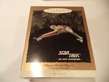 Vintage Keepsake Hallmark Ornament Star Trek KLINGON BIRD OF PREY ~ LIGHTS  1994