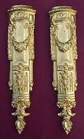 Two metal ormolu pediments, corners #8.Furniture mounts,decoration