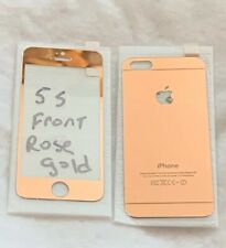 Apple iPhone 5 S Screen Protector Tempered Glass Rose Gold Front and Back