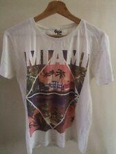 Xtra Fine Tshirt Miami Print Cotton Top Men's Size Small < T1464