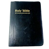 Holy Bible Dictionary Concordance KJV King James Version Red Letter Nelson 1984