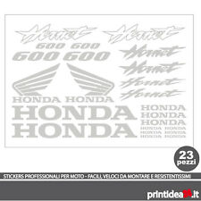KIT STICKER ADESIVO HONDA HORNET 600 STICKERS ADESIVI HORNET600 ARGENTO
