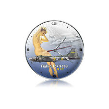 """B-17 with Nude 14""""  Wall Clock - Hand Made in the USA with American Steel"""