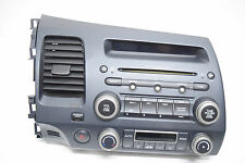 06 07 08 09 10 11 HONDA CIVIC RADIO CD PLAYER WITH CODE CLIMATE CONTROL OEM
