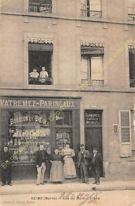 CPA 51100 REIMS rue Mont d'Arène Maison WATREMEZ PARINGAUX Edit ca1918