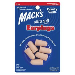 Mack's Ultra Soft Foam Ear Plugs, 3 Pair