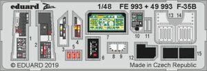 Eduard 1/48 Lockheed-Martin F-35B Zoom Set # FE993