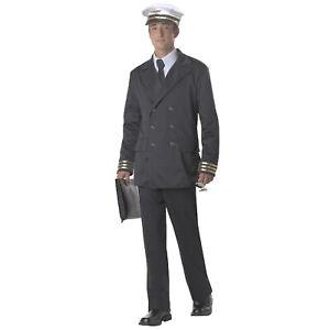 Adult Men's Retro Pilot Uniform Jacket Hat Lindbergh Aviator Commercial Couples