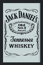 Jack Daniels Label Logo Nostalgie Barspiegel Spiegel Bar Mirror 22 x 32 cm