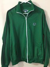 Fred Perry Sportswear Full Zip Green Track Jacket Vintage Casual Size L
