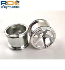 GPM Racing Losi Mini-T Aluminum Silver 5 Spoke Exodus Wheels Front SMT0527F/L