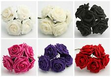 10CM LARGE FOAM ROSES - Bunch of 5 Colourfast Artificial Wedding Flower Bouquet