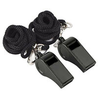 hot 2Pcs Football Sports Referee Plastic Whistle Lanyard Emergency Loud Sound hh