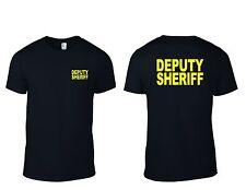 DEPUTY SHERIFF  Black and Military Green T-SHIRT S- 3XL