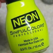 SINFUL COLORS NEON NAIL POLISH - THE BRIGHT THING #1557 - HOT NEON! - 2015, NEW