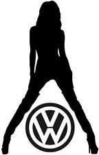 Diversión Sexy Niña Mujeres VW Golf Polo Beetle Pegatina De Vinilo Coche Calcomanía Pared Arte Gráfico