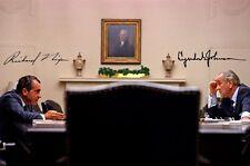 Richard Nixon & lyndon b. johnson-Repro-autógrafo, 20x30 CM, foto grande