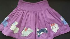 Mini Boden girls Bunny appliques twirl skirt size 2-3 GUC