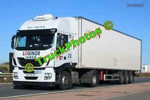 Truck Photo TR-00188 Iveco Stralis Reg:- DM758FW Op:- Loginor M20 Dover Lorry