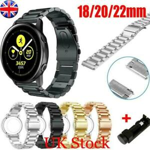 18/20/22mm Stainless Steel Strap Band Clasp Metal Watch Bracelet Wristband UK
