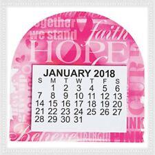 Lot of 3 2018 Breast Cancer Awareness Pink Ribbon Inspiration Magnetic Calendar