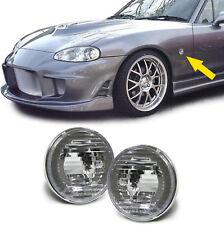 Klarglas Seitenblinker weiß mit chrom Rand für Mazda MX5 NA NB NBFL 90-05